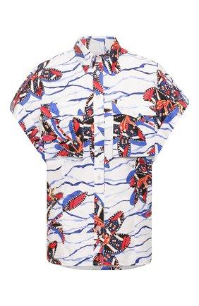Женская хлопковая рубашка STELLA JEAN белого цвета, арт. 20E/J/WM/CA37/0369 | Фото 1