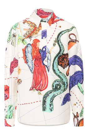 Женская рубашка из вискозы STELLA JEAN белого цвета, арт. 20E/J/WM/CA36/2718 | Фото 1