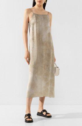 Женское платье UMA WANG серого цвета, арт. P0 W UW5094 | Фото 2
