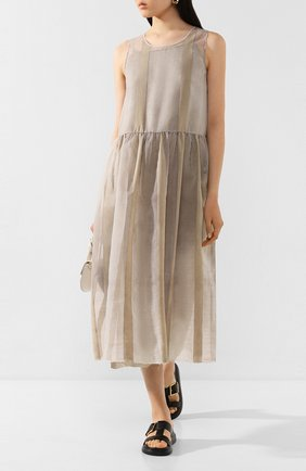 Женское платье UMA WANG светло-серого цвета, арт. P0 W UW5005 | Фото 2