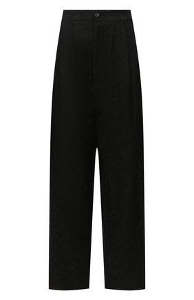 Женские брюки из смеси льна и хлопка UMA WANG черного цвета, арт. P0 W UW3015 | Фото 1