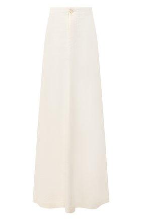 Женская льняная юбка UMA WANG белого цвета, арт. P0 W UW2003 | Фото 1