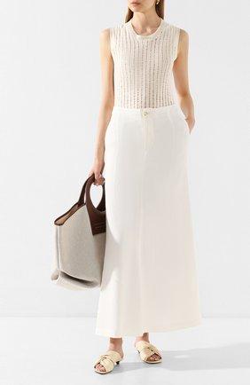 Женская льняная юбка UMA WANG белого цвета, арт. P0 W UW2003 | Фото 2