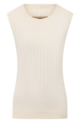 Женская топ из смеси шелка и шерсти UMA WANG бежевого цвета, арт. P0 W UK7120 | Фото 1