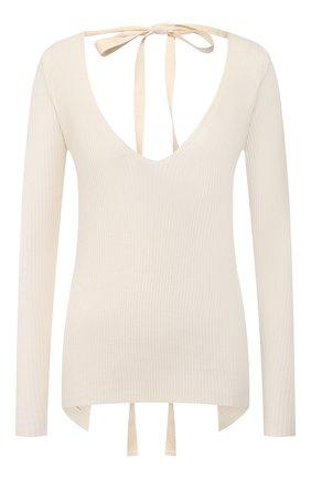 Женская хлопковый пуловер UMA WANG белого цвета, арт. P0 W UK7114 | Фото 1