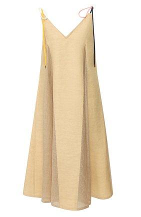 Женское льняное платье AKIRA NAKA бежевого цвета, арт. AS2025-BE | Фото 1