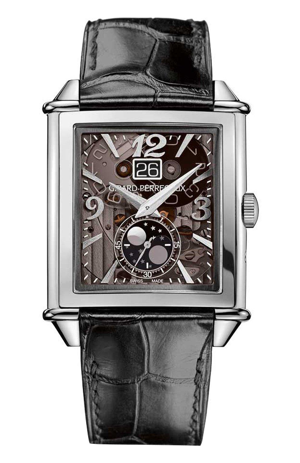 Мужские часы xxl large date steel grey GIRARD-PERREGAUX серого цвета, арт. 25882-11-223-BB6B   Фото 1