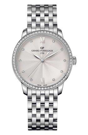 Женские часы steel silver diamonds GIRARD-PERREGAUX серебряного цвета, арт. 49523D11A171-11A   Фото 1