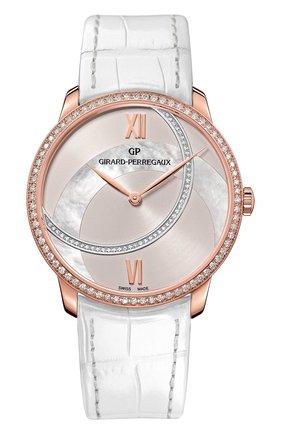 Женские часы rose gold pearl silver GIRARD-PERREGAUX серебряного цвета, арт. 49525D52ABD2-BK8A | Фото 1