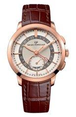 Мужские часы dual time rose gold cream GIRARD-PERREGAUX бесцветного цвета, арт. 49544-52-131-BBB0 | Фото 1