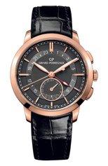 Мужские часы dual time rose gold grey GIRARD-PERREGAUX бесцветного цвета, арт. 49544-52-231-BB60 | Фото 1