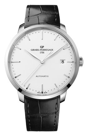 Мужские часы steel date white GIRARD-PERREGAUX серебряного цвета, арт. 49551-11-132-BB60 | Фото 1