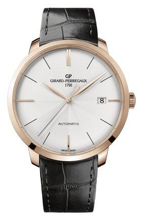 Мужские часы GIRARD-PERREGAUX серебряного цвета, арт. 49551-52-131-BB60 | Фото 1