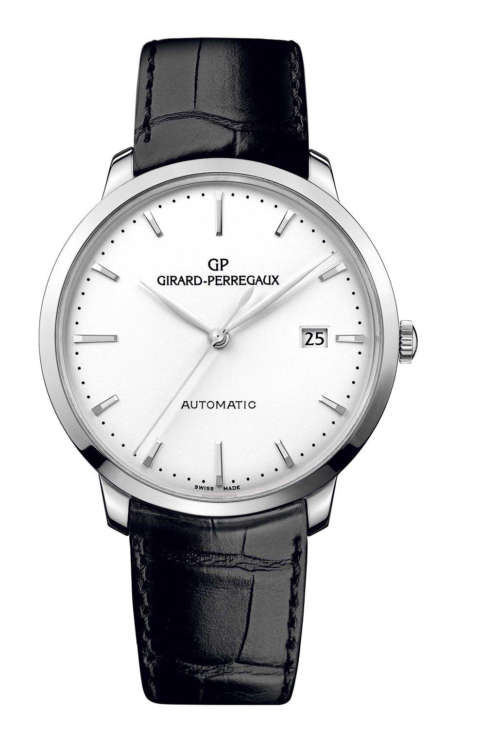 Мужские часы steel date white GIRARD-PERREGAUX белого цвета, арт. 49555-11-131-BB60 | Фото 1