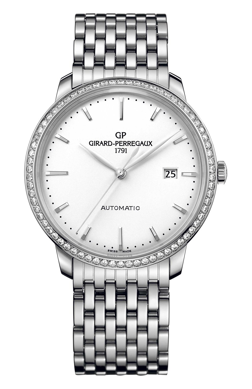 Женские часы steel date silver GIRARD-PERREGAUX белого цвета, арт. 49555D11A131-11A   Фото 1