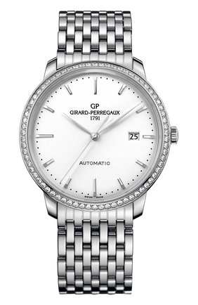 Женские часы steel date silver GIRARD-PERREGAUX белого цвета, арт. 49555D11A131-11A | Фото 1