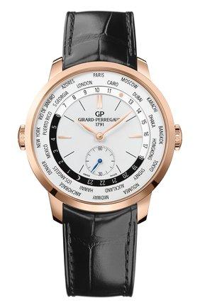 Мужские часы ww.tc GIRARD-PERREGAUX серебряного цвета, арт. 49557-52-131-BB6C | Фото 1