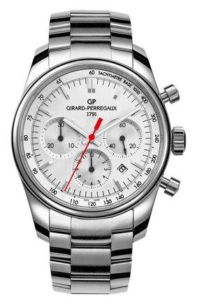 Мужские часы stradale steel silver GIRARD-PERREGAUX серебряного цвета, арт. 49590-11-111-11A | Фото 1
