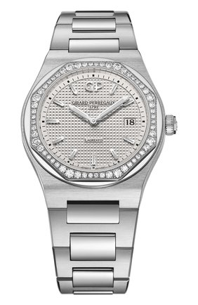 Женские часы laureato 34 mm GIRARD-PERREGAUX серебряного цвета, арт. 80189D11A131-11A | Фото 1