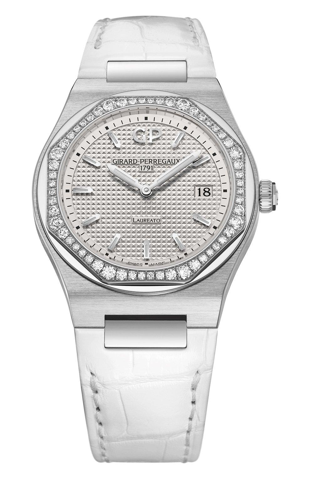 Женские часы laureato 34 mm GIRARD-PERREGAUX серебряного цвета, арт. 80189D11A131-CB6A   Фото 1