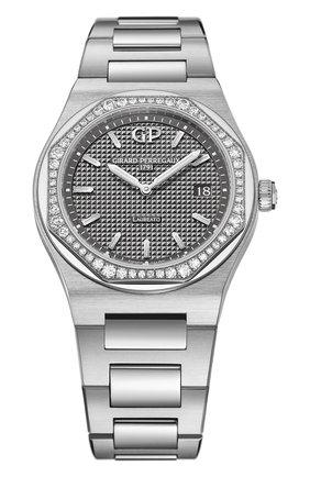 Женские часы laureato 34 mm GIRARD-PERREGAUX серого цвета, арт. 80189D11A231-11A   Фото 1