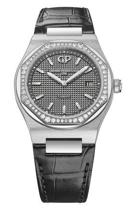 Женские часы laureato 34 mm GIRARD-PERREGAUX серого цвета, арт. 80189D11A231-CB6A   Фото 1