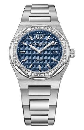 Женские часы laureato 34 mm GIRARD-PERREGAUX синего цвета, арт. 80189D11A431-11A   Фото 1