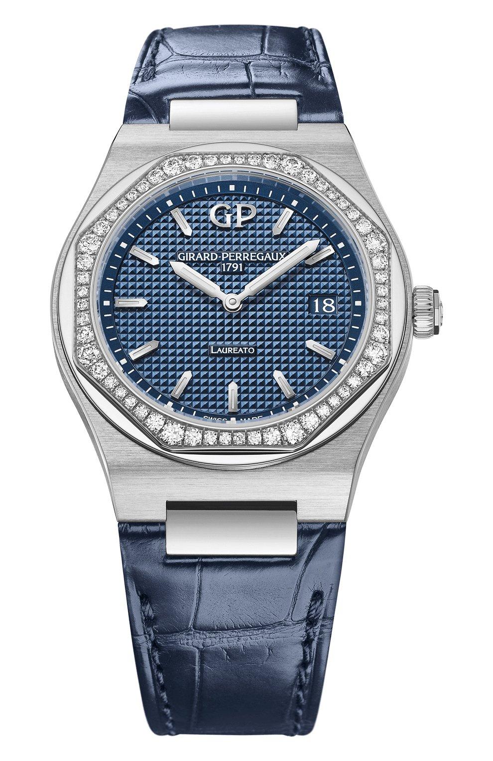 Женские часы laureato 34 mm GIRARD-PERREGAUX синего цвета, арт. 80189D11A431-CB6A | Фото 1