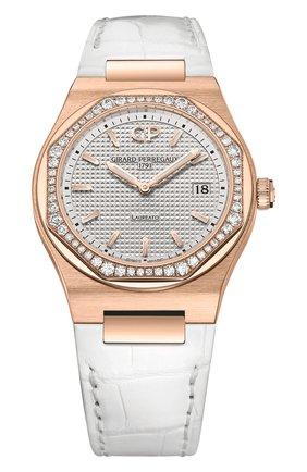 Женские часы laureato 34 mm GIRARD-PERREGAUX бесцветного цвета, арт. 80189D52A132-CB6A | Фото 1