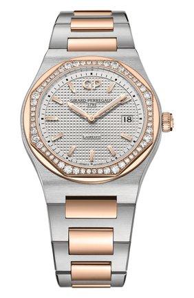 Женские часы laureato 34 mm GIRARD-PERREGAUX серебряного цвета, арт. 80189D56A132-56A | Фото 1