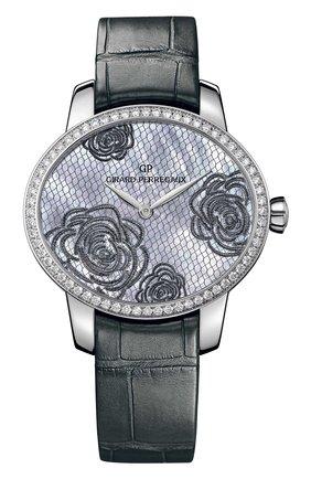 Женские часы bloom steel blue pearl GIRARD-PERREGAUX бесцветного цвета, арт. 80476D11A701-CK7A | Фото 1