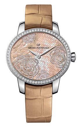 Женские часы bloom steel beige dial GIRARD-PERREGAUX бежевого цвета, арт. 80476D11A801-CK8A | Фото 1