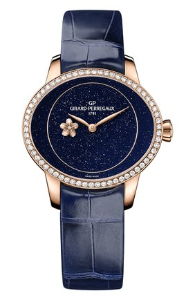 Женские часы plum blossom GIRARD-PERREGAUX бесцветного цвета, арт. 80484D52A401-CK4E | Фото 1