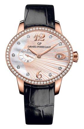 Женские часы small seconds rose gold GIRARD-PERREGAUX перламутрового цвета, арт. 80484D52A763-BK6B   Фото 1