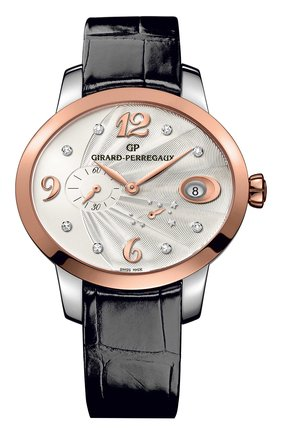 Женские часы power reserve rose gold GIRARD-PERREGAUX серебряного цвета, арт. 80486-56-162-CK6A | Фото 1