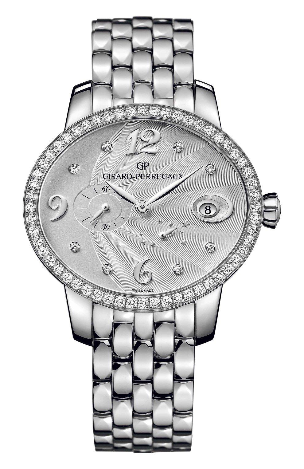 Женские часы power reserve steel GIRARD-PERREGAUX серебряного цвета, арт. 80486D11A161-11A | Фото 1
