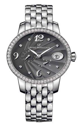 Женские часы power reserve steel grey GIRARD-PERREGAUX серебряного цвета, арт. 80486D11A862-11A   Фото 1