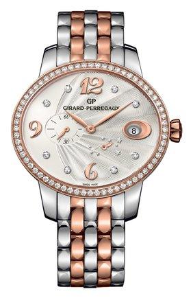 Женские часы power reserve steel and rose gold GIRARD-PERREGAUX серебряного цвета, арт. 80486D56A162-56A | Фото 1