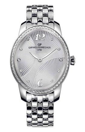 Женские часы majestic steel GIRARD-PERREGAUX серебряного цвета, арт. 80493D11A161-11A | Фото 1