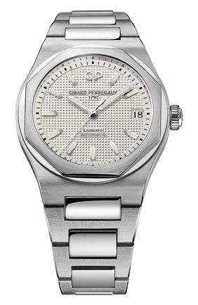 Мужские часы laureato 42 mm GIRARD-PERREGAUX серебряного цвета, арт. 81010-11-131-11A | Фото 1