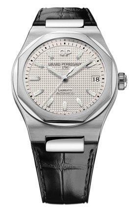 Мужские часы laureato 42 mm GIRARD-PERREGAUX серебряного цвета, арт. 81010-11-131-BB6A | Фото 1