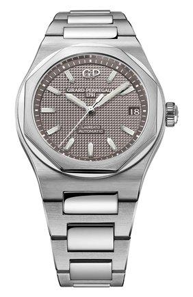 Мужские часы laureato 42 mm GIRARD-PERREGAUX серого цвета, арт. 81010-11-231-11A | Фото 1