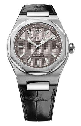 Мужские часы laureato 42 mm GIRARD-PERREGAUX серого цвета, арт. 81010-11-231-BB6A | Фото 1