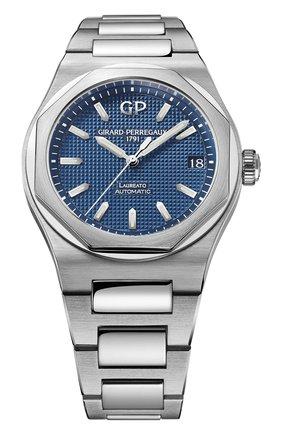 Мужские часы laureato 42 mm GIRARD-PERREGAUX синего цвета, арт. 81010-11-431-11A | Фото 1