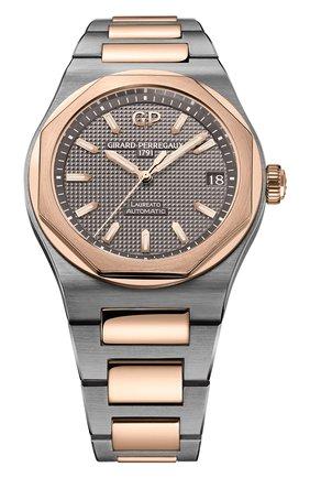 Мужские часы laureato 42 mm GIRARD-PERREGAUX серого цвета, арт. 81010-26-232-26A | Фото 1
