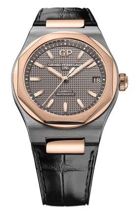 Мужские часы laureato 42 mm GIRARD-PERREGAUX серого цвета, арт. 81010-26-232-BB6A | Фото 1