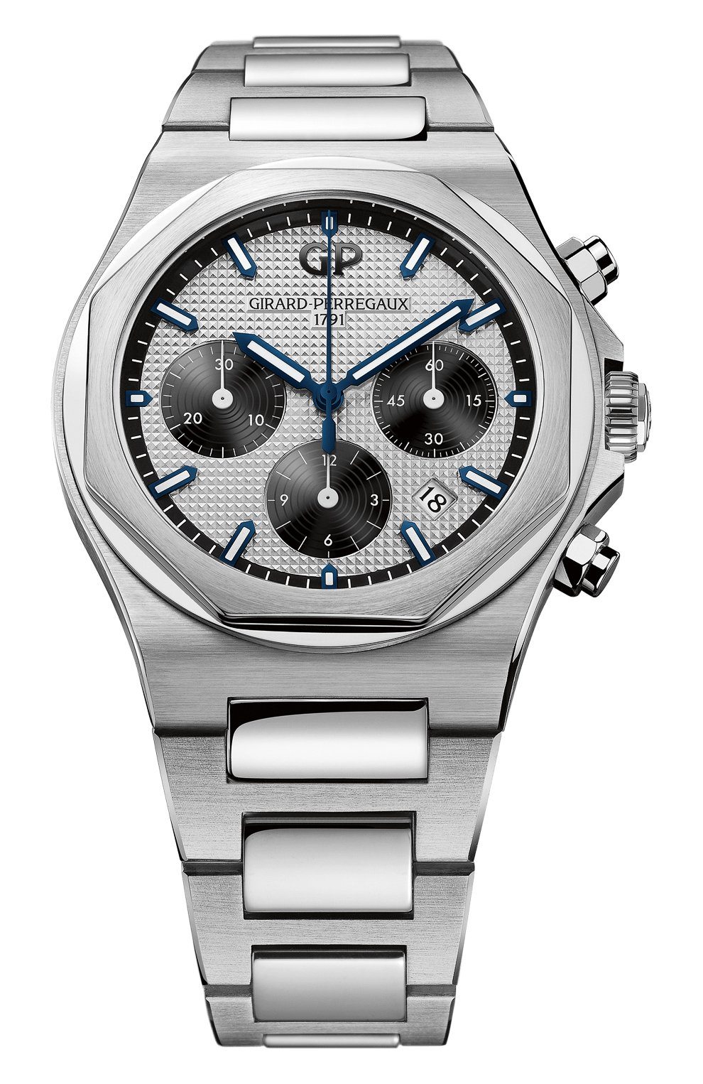 Мужские часы laureato chronograph GIRARD-PERREGAUX серебряного цвета, арт. 81020-11-131-11A   Фото 1