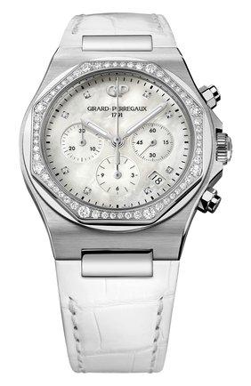 Женские часы chronograph lady GIRARD-PERREGAUX белого цвета, арт. 81040D11A771-BB7B | Фото 1