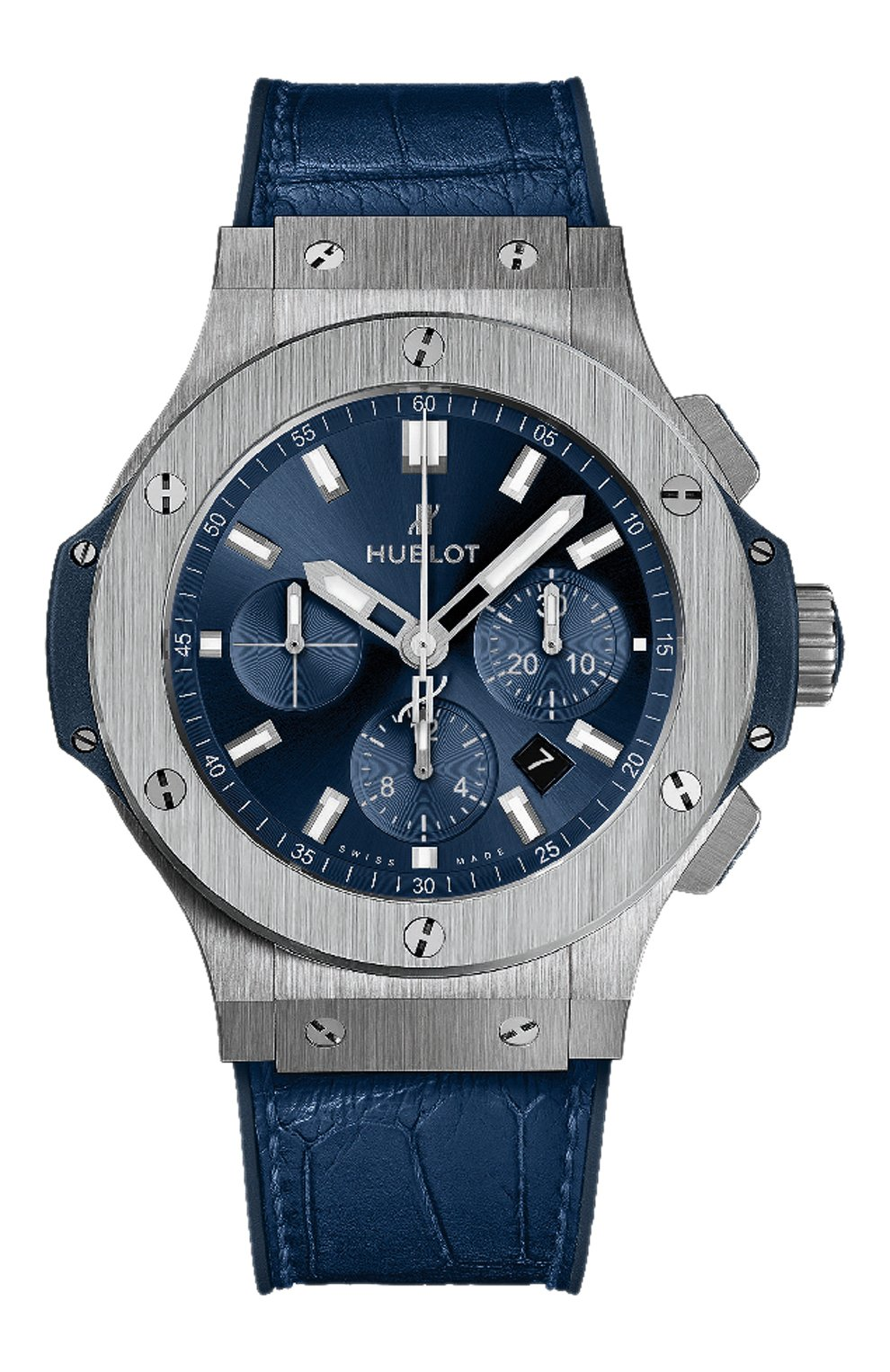 Мужские часы big bang steel blue HUBLOT синего цвета, арт. 301.SX.7170.LR | Фото 1