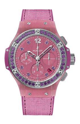 Женские часы big bang purple linen HUBLOT розового цвета, арт. 341.XP.2770.NR.1205   Фото 1